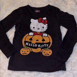 Girls hello kitty Halloween shirt small old navy